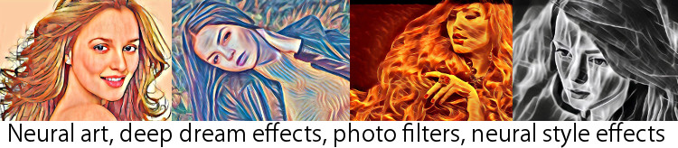 neural art, deep dream effects, photo filters, dreamscope