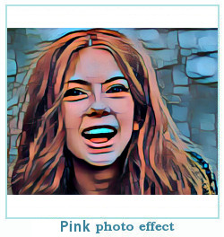 pink dreamscope photo effect